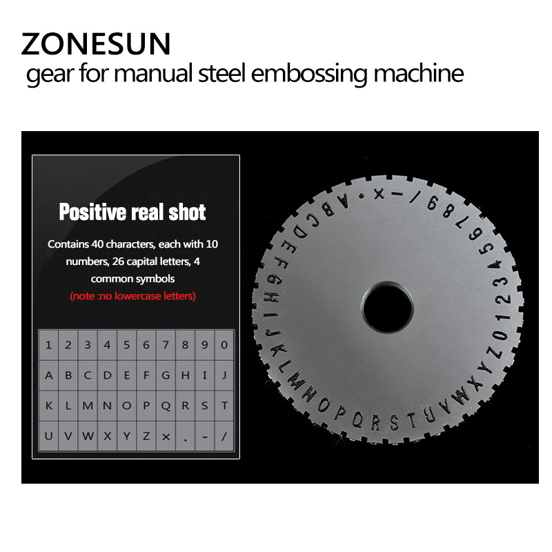 Tools : ZONESUN Embossing Machine Extra Gear For Manual Steel  Label Engrave Tool 1 PC Price