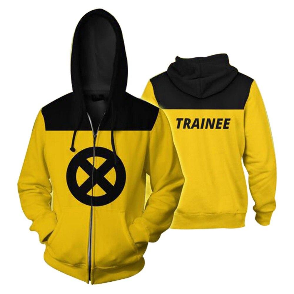 Deadpool 2 Cosplay Hoodies Costumes Zip Up Hoodie Sweatshirt Cosplay Yellow hooded Jackets MEN WOMEN