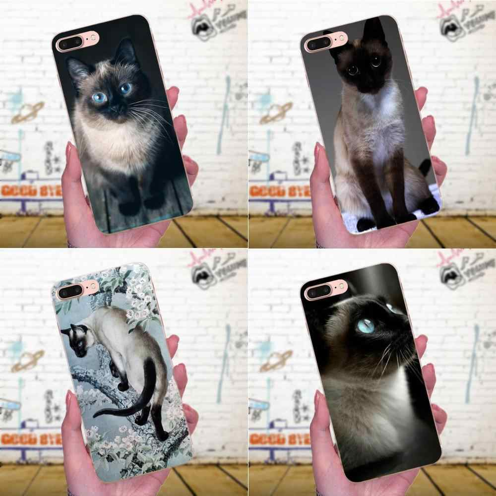 Blue Dot The Traditional Siamese Cat For Galaxy A3 A5 A7 On5 On7 2015 2016 2017 Grand Alpha G850 Core2 Prime S2 I9082