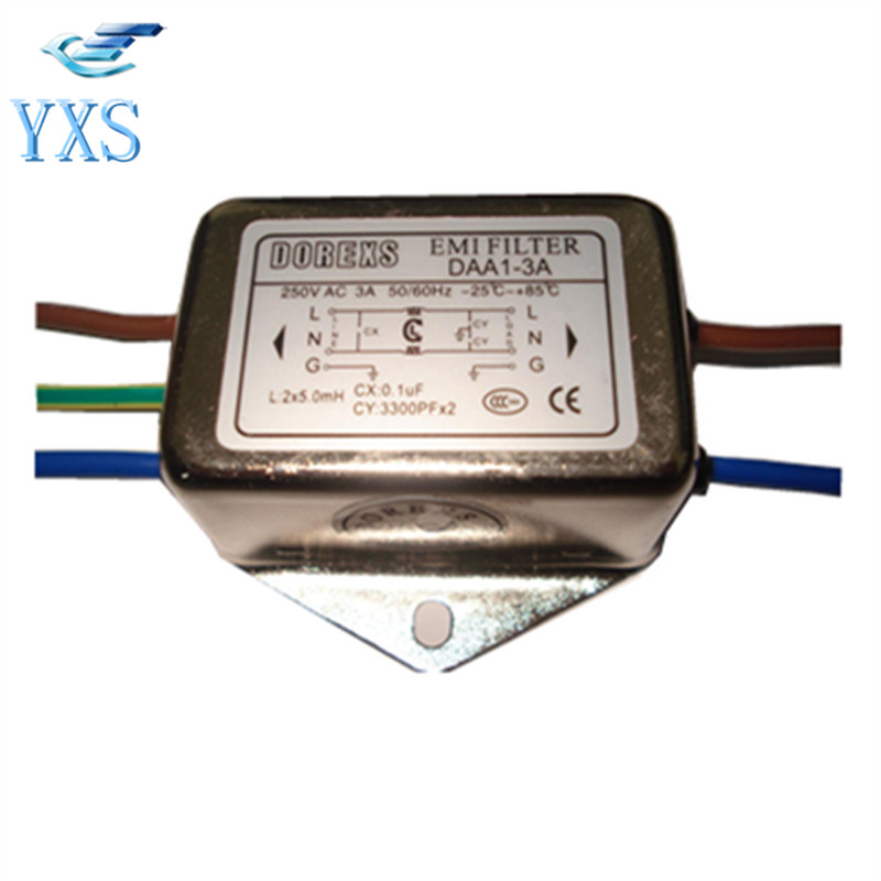 Filter DAA1-3A DAA1-6A AC Single Phase Power Supply Filter EMI Power Line Filter 220V 50/60HZ linear phase bernstein filter for equalized the distorted chrominance