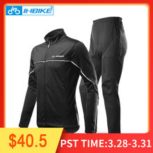 INBIKE зима Для мужчин Велоспорт куртка штаны Теплая Флисовая теплая ветровка Shell пальто ветрозащитный Костюмы горный велосипед костюм