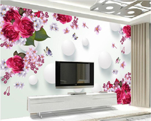 beibehang Very beautiful indoor wallpaper rose butterfly 3D stereo TV wall wallpaper for walls 3 d	papel de parede papier peint  beibehang any size size wallpaper dinosaur tv wall murals children bedroom papel de parede 3d wallpaper wall 3 d papier peint