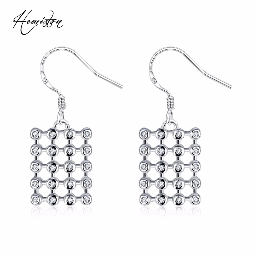 2016 Brand Creative Hollow Square Matrix Earring Drop with Zirconia, European Bijoux Jewelry Gift For Women Wholesale TF 378
