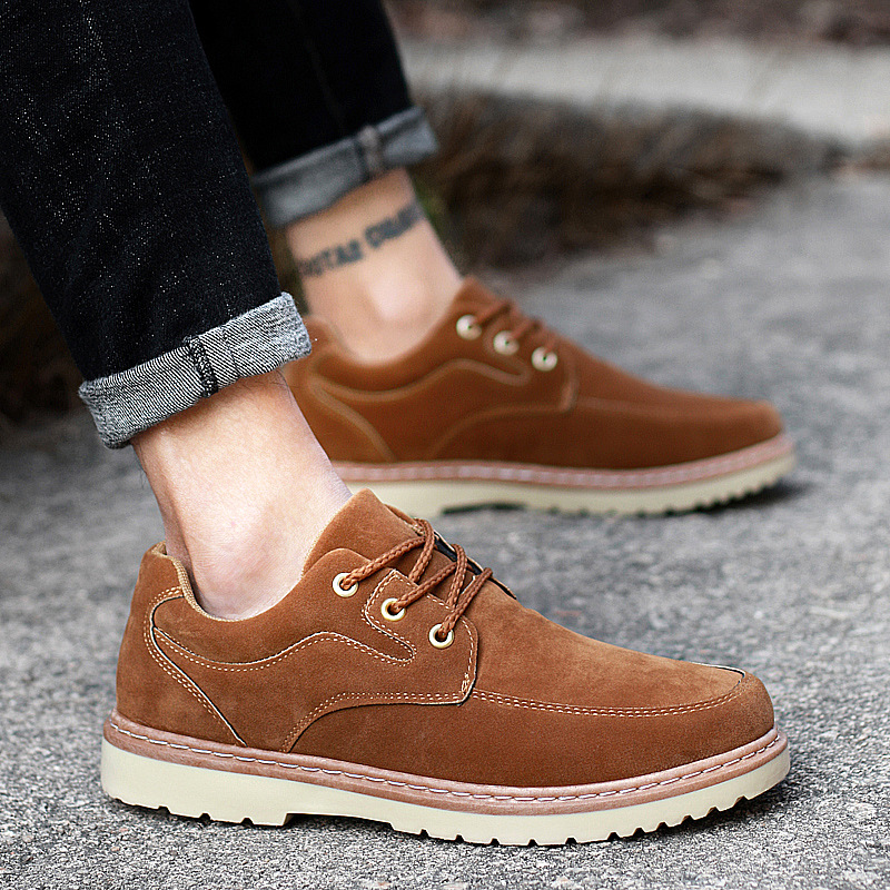 Hot Sale Men Leather Shoes Casual New Cow Suede Shoes Men Oxford Fashion Lace Up Dress Shoes Outdoor Work Shoe Sapatos bexzxed new brand fashion comfortable men shoes lace up solid leather shoes men causal huarache shoes hot sale