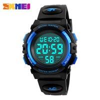 어린이 시계 SKMEI 브랜드 수영 방수 야외 스포츠 어린이 시계 소년 소녀 패션 캐주얼 LED 디지털 시계