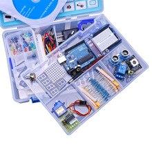Модернизированный Расширенная Версия Starter Kit узнать Люкс Комплект LCD 1602 для Arduino UNO R3 С Учебник