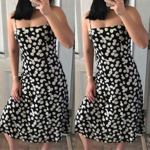 Новинка 2019, сексуальное женское летнее пляжное платье миди с цветочным принтом, праздничные модные платья на пуговицах