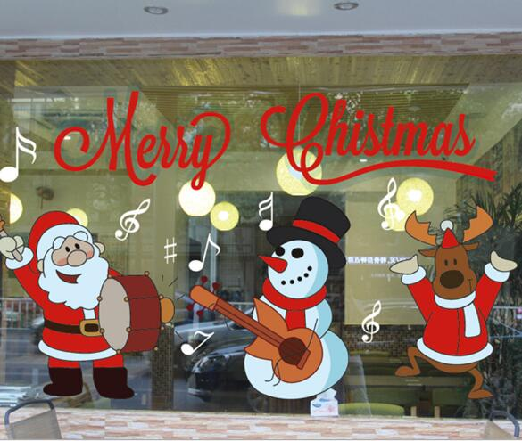 Christmas Decorations Stickers Decorate Glass Door Window Stickers