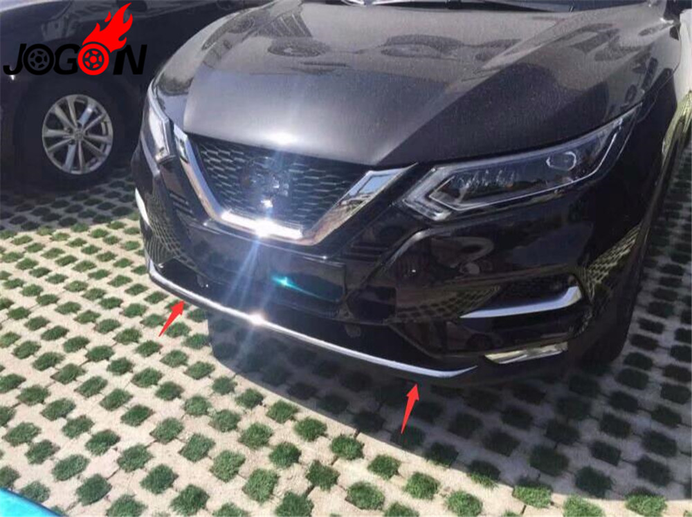 Accessories NEW Stainless Steel Front bumper trim front lip trim Cover Trim For FOR NISSAN QASHQAI