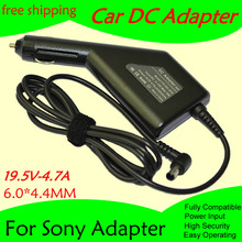 High quality DC Power Car Adapter Charger 19.5V 4.7A For Laptop Sony