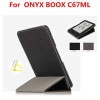 PU Leather Case For ONYX BOOX C67ML Protective EBook Reader Smart Cover Protector For Boox C67ML