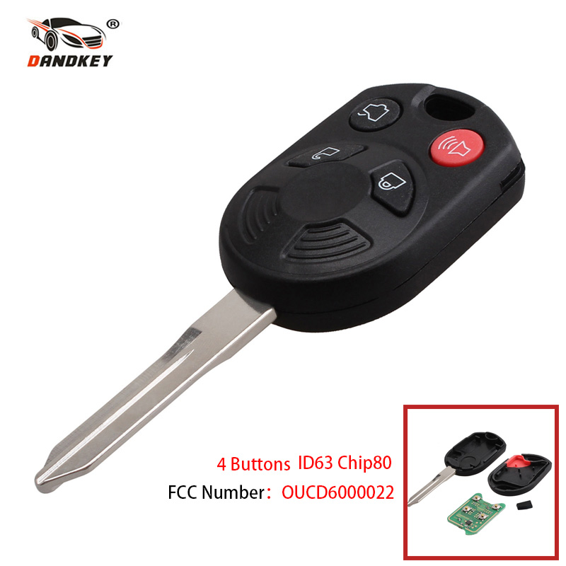 Dandkey Remote Car Key Fob  Buttons With Id For Ford Edge Escape Focus Lincoln Mazda Mercury Oucd Car Keyless