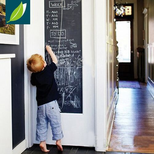 Fancy-fix Vinyl Chalkboard Wall Stickers Removable Blackboard Decals Great Gift for Kids 45CMx200CM with 5 Free Chalks B2