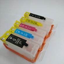 5pcs PGI 5 CLI 8 PGI5 CLI8 refillable ink cartridges for canon PIXMA ip4200 ip4300 ip5200 IX4000 IX5000 5300 MP970 with chip