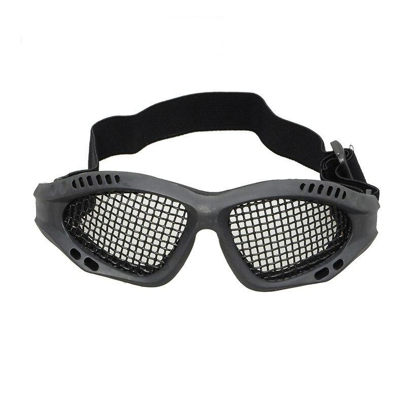 Prix pour Haute Qualité Chasse Airsoft Net Tactique Résistance Aux Chocs Yeux Protection Extérieure Sport Métal Mesh Lunettes masque ht336