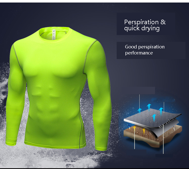 Image 2 - Yuerlian Long Sleeve Men shirt compression sports TShirt Fitness Man T Shirt dry fit running training GYM tops for male-in Running T-Shirts from Sports & Entertainment on AliExpress