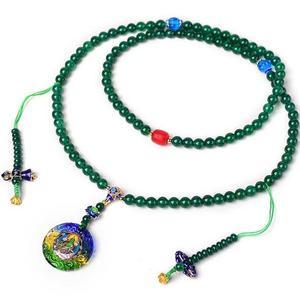 Image 3 - Tasarımcı tibet Mala budist yeşil Tara tespihler tibet 108 boncuk Mala budist tespih boncuk