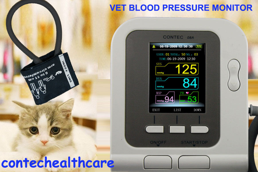 Veterinary Vet Digital Blood Pressure HR / NIBP Monitor Vet NIBP Monitor+PC SW abpm50 ce fda approved 24 hours patient monitor ambulatory automatic blood pressure nibp holter with usb cable