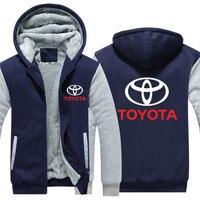free shipping Toyota Hoodies Hoody Jacket Winter Pullover Mans Unisex Thicken Wool Liner Fleece Men Coat Toyota Logo Sweatshirts