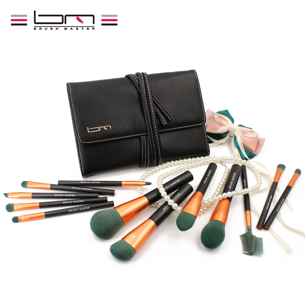 BM Brush Master Micro Crystal Fiber VEGAN Makeup Brush Set Professional Makeup Brushes 12pieces Beauty Cosmetic Tools 10 pcs crystal professional makeup brushes set beauty power blush flame angle shadow comestic makeup tools
