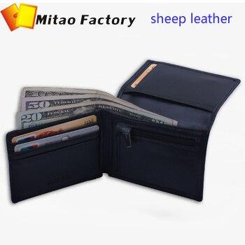 2017 Thời Trang New Simple Bellroy Thiết Kế Đen Màu Da Cừu chủ Thẻ Wallet Với Coin Bag Pocket Purse