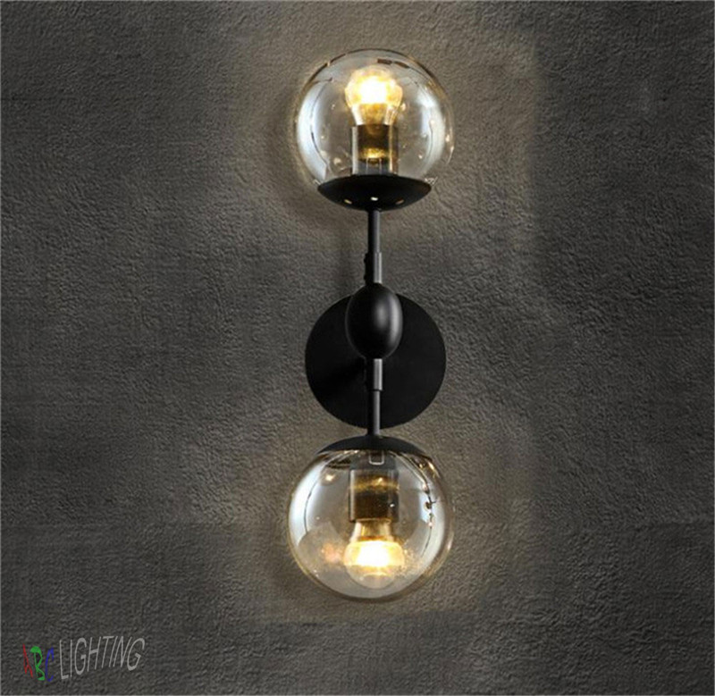 Vintage Bedroom Wall Lamps : Modern Magie Glass Ball Wall Lamps Vintage Wall Lights Bedroom Bedside Wall Socnces Light ...