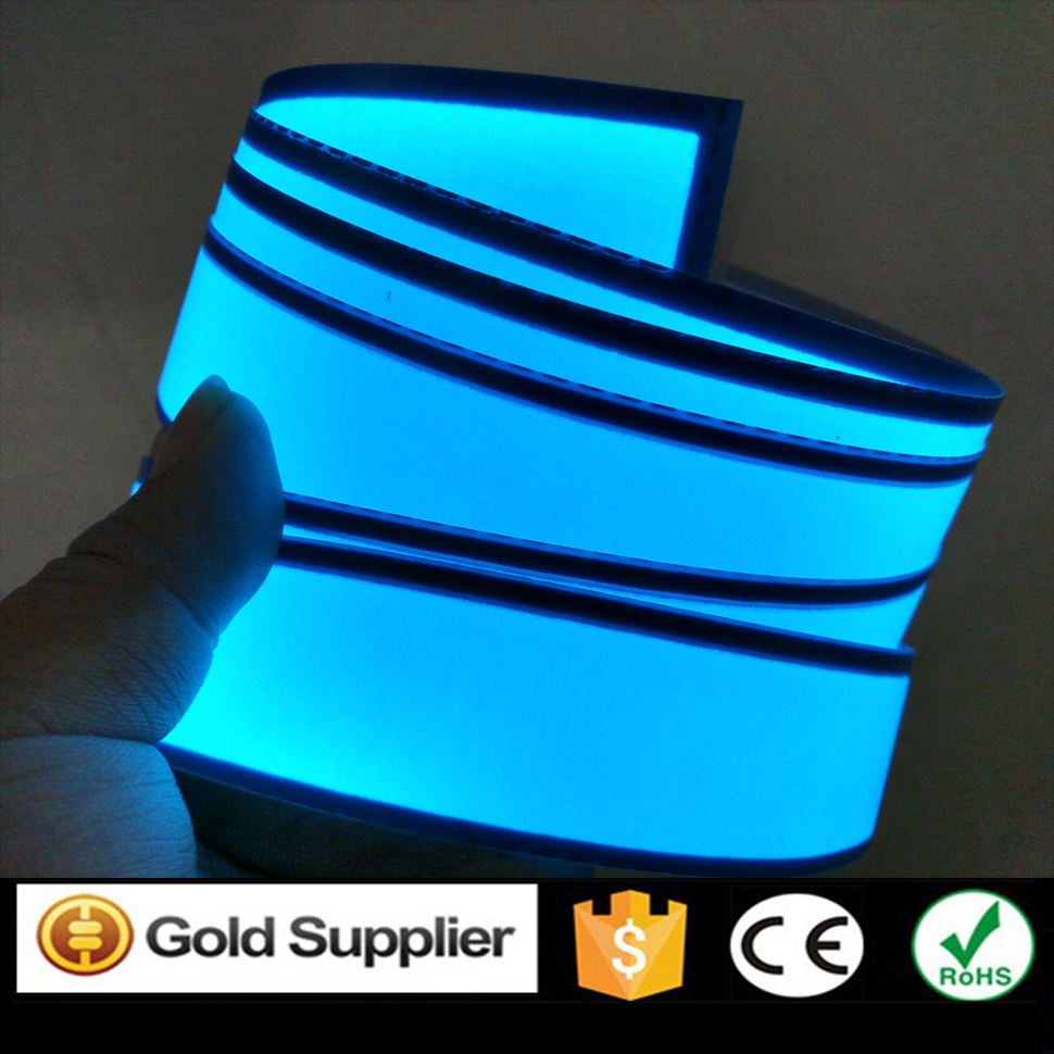 New Arrival 3cm X 200cm Blue Flexible EL Strip Electroluminescent Tape Led Light Neon Tape With DC12V Inverter