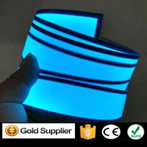 New Arrival 3cm x 200cm niebieska elastyczna taśma EL taśma elektroluminescencyjna taśma neonowa led z falownikiem DC12V