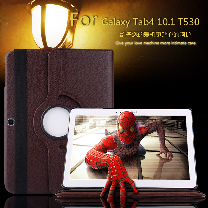 for Samsung Galaxy Tab4 T530 T531 T535 Tablet Case 10.1 inch 360 Degree Rotating Stand for Samsung Tab4 Protective Cover 2 in 1 shockproof 360 degree rotating ring stand with case for samsung galaxy s8