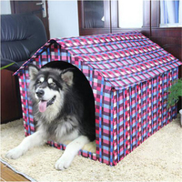 Pet Bed Large Dog Houses Kennel Small Animal House Novelty Chihuahua Dog Houses Cage Pour Chien Pet Bed Dog Pet Products DDMX012