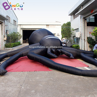 Customized 29.5 feet giant inflatable black spider / 9m large spider inflatables for decoration toys