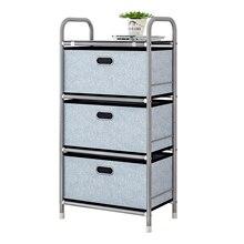 Anmas home 39*29*86cm Oxford 3 Tier cloth Drawer Shelf storage & Rustproof round tube toy bedroom