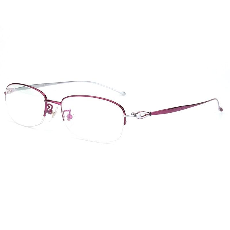 69fea0ae85 Opeco Titânio Puro Vidros Ópticos RX capazes Óculos Metade Aro Da Armação  óculos de Miopia das Mulheres Óculos Prescrição de Óculos  6625 em Armações  de ...