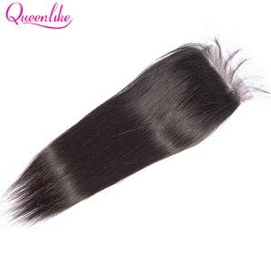 Image 2 - Queenlike مستقيم 5x5 الدانتيل إغلاق حجم كبير قبل التقطه مع الطفل الشعر الطبيعي شعري البرازيلي ريمي الإنسان الشعر 5*5 إغلاق