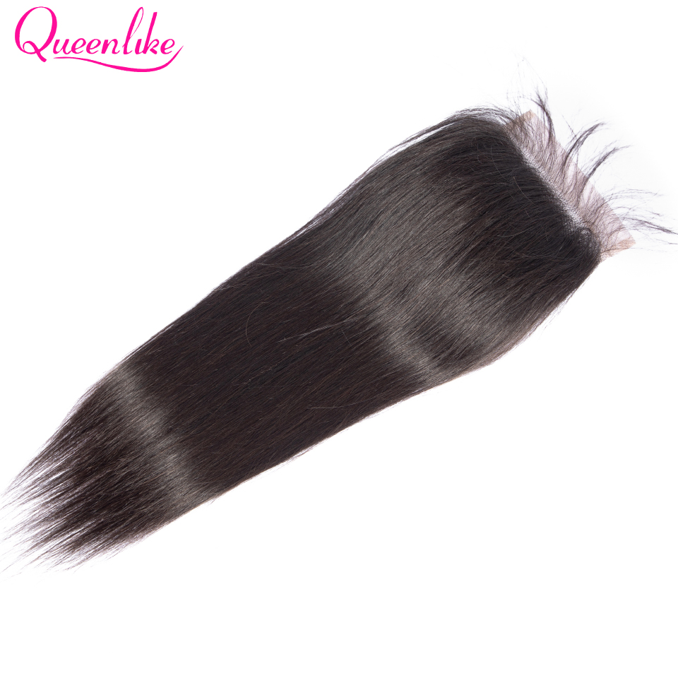 Queenlike Straight 5x5 Lace Closure Big Size Pre Plucked With Baby Hair Natural Hairline Brazilian Remy Human Hair 5*5 Closure
