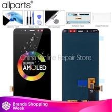Layar AMOLED LCD untuk Samsung Galaxy A730 LCD Display Rakitan Digitizer Layar Sentuh Pengganti untuk Samsung A730 LCD
