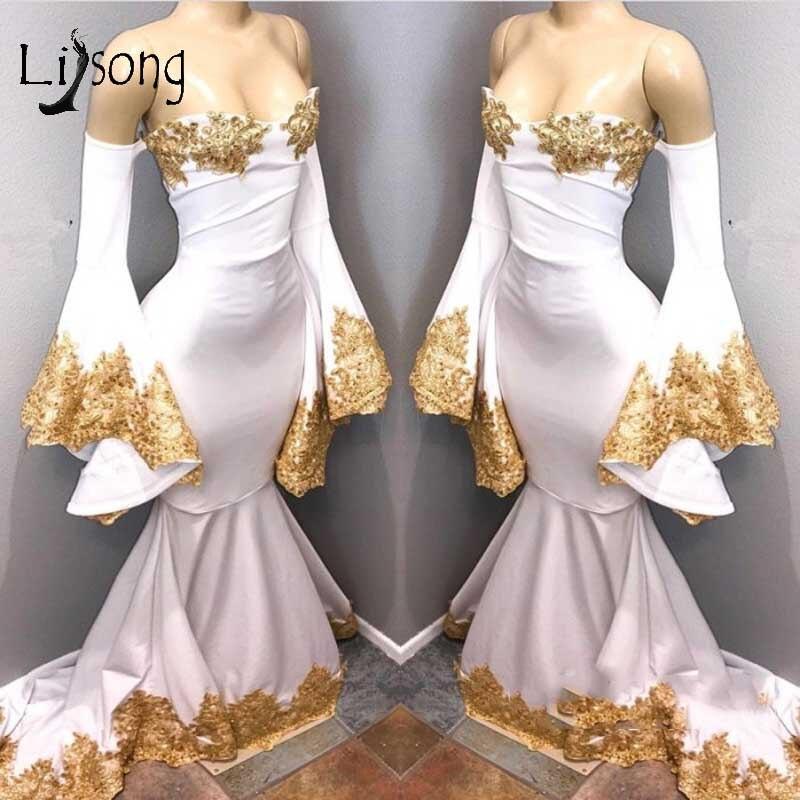 Abendkleider 2018 Elastic Long Mermaid Evening Dresses Long Flare ...
