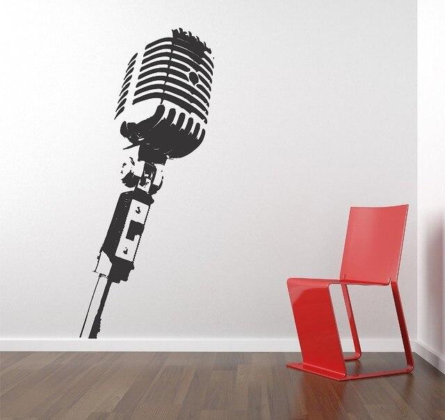 Wall Vinyl Sticker Decals Mural Room Design MICROPHONE Music Studio ...