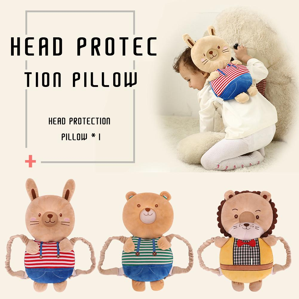Baby Bedding Children Head Protection Pillow Baby Toddler Fall-preventive Headrest Anti-shock Cap Collision Back Pad Baby Cartoon Head Pillow Buy One Get One Free Pillow