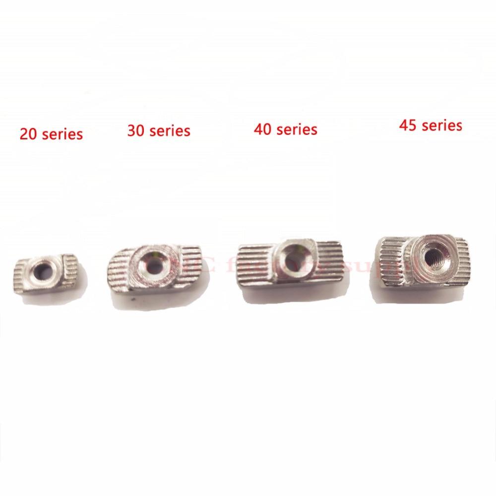 En acier au carbone T type Écrous Fixation En Aluminium Connecteur M3 M4 M5 M6 Pour Standard de L'UE 3030 Industrielle Profil En Aluminium pour Kossel