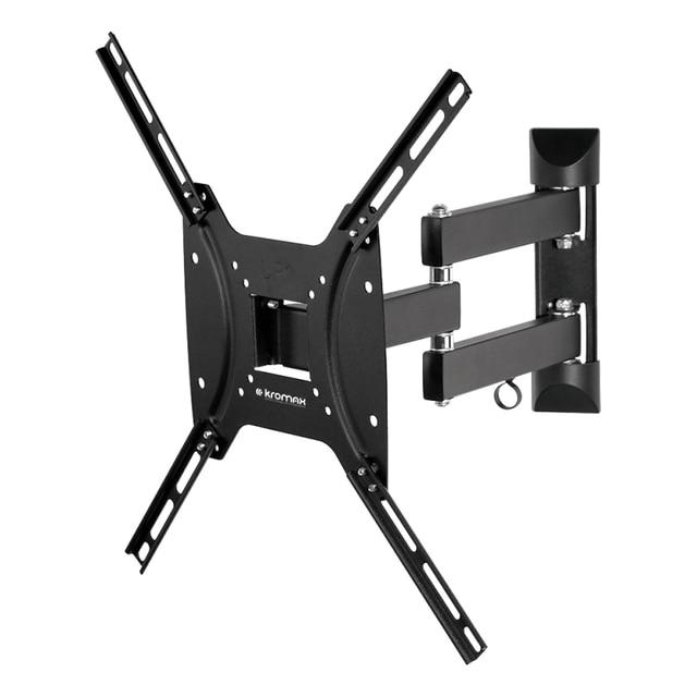 ТВ Кронштейн Kromax OPTIMA-404 black (15-55 дюймов, max 25 кг, наклон +5°-12°, поворот ±90°, от стены 68.5-322мм)