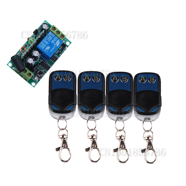 12V DC 1CH Wireless Remote Switch Receiver Transmitter  Learning code Latched  Access Door Control System