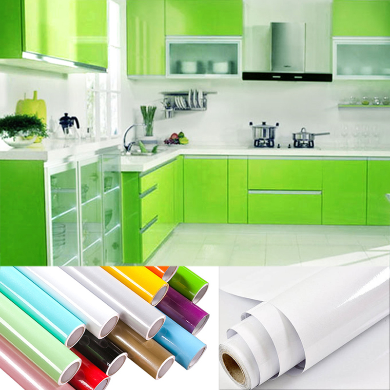 pvc  adhesive kitchen wallpaper wardrobe cupboard furniture home decor sticker kitchen
