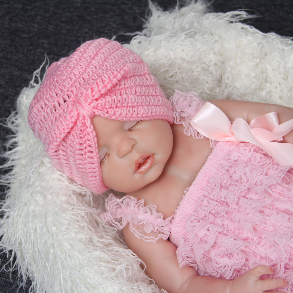 ec549deda US $2.29 10% OFF Fashion Newborn Boy Girls Party Turban Hats Knit India Cap  New Baby Beanie Soft Handmade Cotton Blend Toddler Crochet Hat on ...