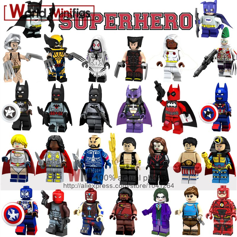 Model Building Blocks Single Legoings Wm230a Ronald Red Round Hair Super Heroes Building Blocks Action Figures Kids Gifts Toys High Quality