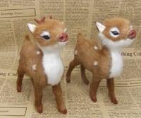 Sika Deer Model Toys 13x10cm Toy A Pair Loves Deers Toy Polyethylene Furs Resin Handicraft Props