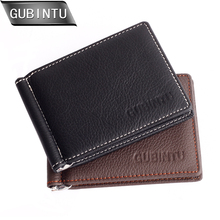 New Brand Men Genuine Leather Money Clip Slim Front Pocket Wallet With ID Credit Card Slots Coin Purse купить недорого в Москве