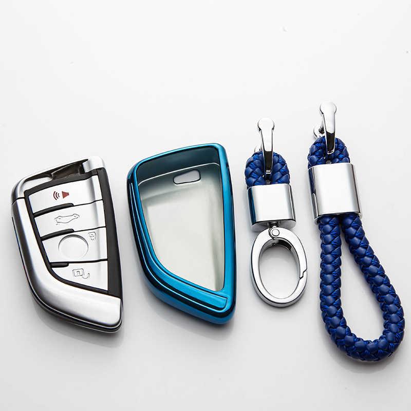 سيارة مفتاح القضية غطاء ل BMW X1 X3 X4 X5 X6 F15 F16 F48 G30 G38 525 540 740 2 5 7 سلسلة 218i سيارة التصميم TPU حماية مفتاح قذيفة
