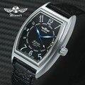 GEWINNER Mode Frauen Auto Mechanische Armbanduhr Tonneau Fall Arabisch Anzahl Kalender Uhr Top Marke Luxus Leder Damen Uhr-in Damenuhren aus Uhren bei