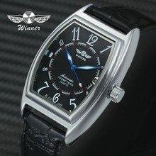 WINNER Fashion Women Auto Mechanical Wristwatch Tonneau Case Arabic Number Calen